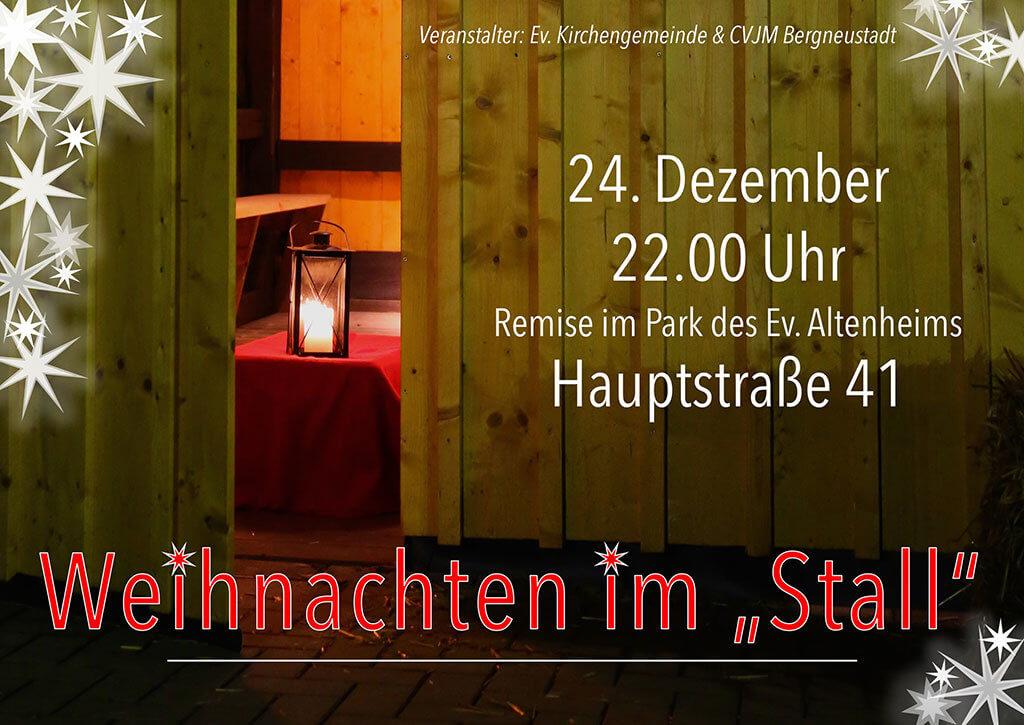 Weihnachten im Stall @ Ev. Altenheim Bergneustadt   Bergneustadt   Nordrhein-Westfalen   Deutschland