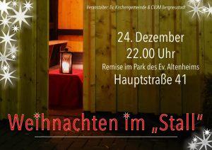 Weihnachten im Stall @ Ev. Altenheim Bergneustadt - Remise | Bergneustadt | Nordrhein-Westfalen | Deutschland