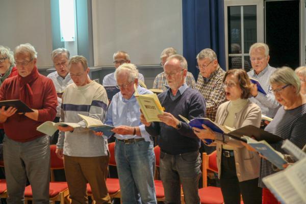 Auf einer Probe für das Mozart-Requiem