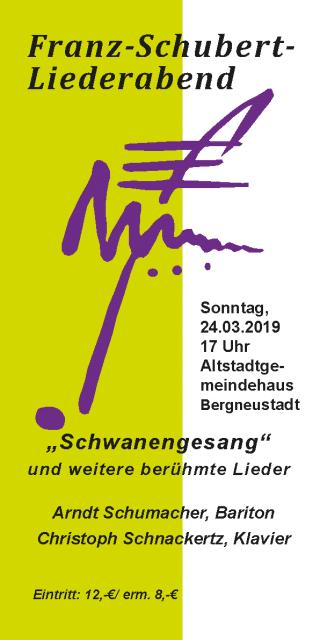 Franz-Schubert-Liederabend @ Altstadtgemeindehaus Bergneustadt | Bergneustadt | Nordrhein-Westfalen | Deutschland