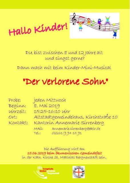 "Kinder-Musical ""Der verlorene Sohn"""